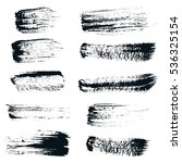black ink brush strokes ... | Shutterstock . vector #536325154