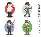 mafia people set illustration... | Shutterstock .eps vector #536325463