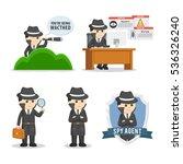 spy agent set illustration... | Shutterstock .eps vector #536326240