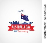 happy australia day vector...   Shutterstock .eps vector #536328868