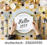 hello 2017 fresh best start new ... | Shutterstock . vector #536334550