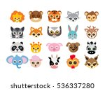 collection of different animal... | Shutterstock .eps vector #536337280
