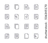 document icons. | Shutterstock .eps vector #536345170