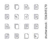 document icons. | Shutterstock .eps vector #536345170
