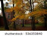 Historic Mansion With Autumn...