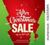 christmas sale banner  vector... | Shutterstock .eps vector #536355094
