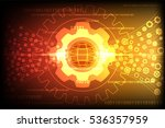 gear wheel transform with... | Shutterstock .eps vector #536357959