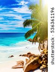 tropical island. the seychelles.... | Shutterstock . vector #536361196