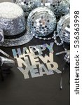 Small photo of Decorations for New Year Eve party.