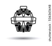 baseball face protector icon....   Shutterstock .eps vector #536365648