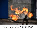gas leak from pipe and valv... | Shutterstock . vector #536369563