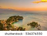 beautiful landscape of taormina ... | Shutterstock . vector #536376550