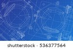 mechanical engineering drawing. ... | Shutterstock .eps vector #536377564