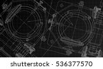 mechanical engineering drawing. ... | Shutterstock .eps vector #536377570