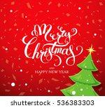 merry christmas banner  vector... | Shutterstock .eps vector #536383303