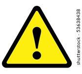 warning sign | Shutterstock .eps vector #53638438