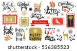 christmas and new year hand...   Shutterstock .eps vector #536385523