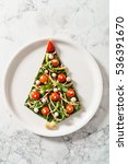 christmas pizza | Shutterstock . vector #536391670