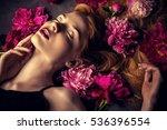 beauty portrait. beautiful... | Shutterstock . vector #536396554