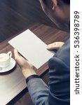 business men looking a empty... | Shutterstock . vector #536398789