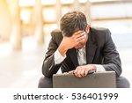 businessman feel sad worry... | Shutterstock . vector #536401999