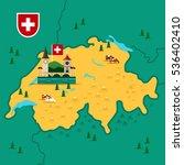 vector map of switzerland. | Shutterstock .eps vector #536402410