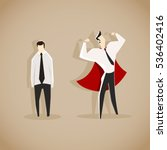 weak and strong businessman... | Shutterstock .eps vector #536402416