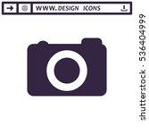 camera icon vector flat design...