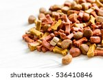 Dry Dog Food In Bulk On Wooden...