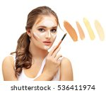 contouring.make up woman face....   Shutterstock . vector #536411974