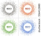 set of  bright colorful new... | Shutterstock . vector #536412880