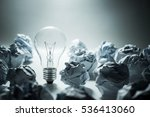light bulb with crumpled paper... | Shutterstock . vector #536413060