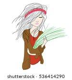 girl | Shutterstock .eps vector #536414290