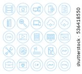 line circle coding icons.... | Shutterstock .eps vector #536418550