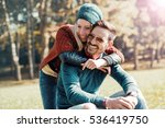 handsome young man and woman... | Shutterstock . vector #536419750