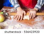kids baking cookies in the... | Shutterstock . vector #536423920