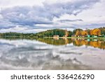 autumn on the lake. | Shutterstock . vector #536426290