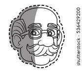 isolated man cartoon design | Shutterstock .eps vector #536429200