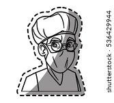 isolated doctor cartoon design | Shutterstock .eps vector #536429944