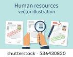 human resources concept.... | Shutterstock .eps vector #536430820