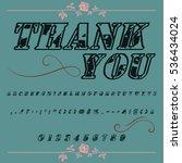 handcrafted vector script... | Shutterstock .eps vector #536434024