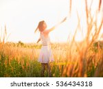 beautiful girl in stylish... | Shutterstock . vector #536434318