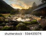 maruia hot springs in new... | Shutterstock . vector #536435074