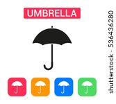 umbrella icon isolated on...
