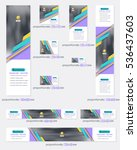 multicolored flat style website ... | Shutterstock .eps vector #536437603