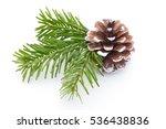 fir tree branch and cones... | Shutterstock . vector #536438836