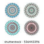 set of 4 round ornaments in the ... | Shutterstock .eps vector #536443396