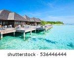 beautiful beach with water... | Shutterstock . vector #536446444