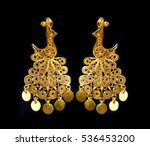 Beautiful Gold Ornaments On A...