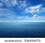 blue sea water surface on sky | Shutterstock . vector #536454073